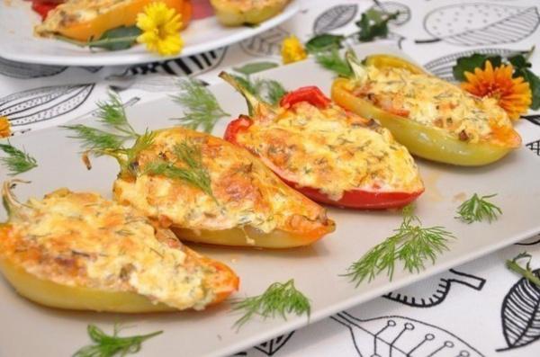 Полезные советы: Курица с грибами и сыром в перце