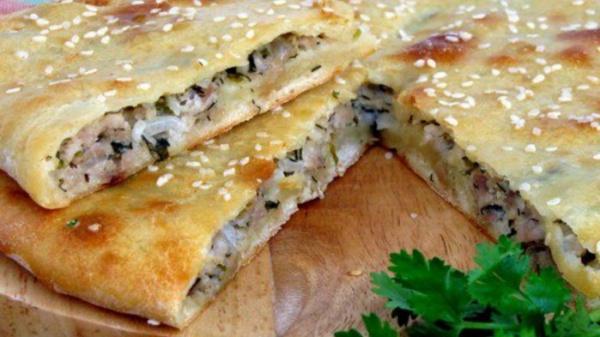 Полезные советы: Мясной пирог на кефире с фаршем