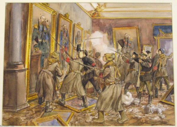 История: Второй, *пьяный*, штурм Зимнего Дворца, 1917 год.
