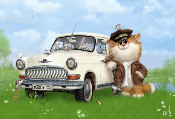 Картинки: Очаровательные коты художника Алексея Долотова