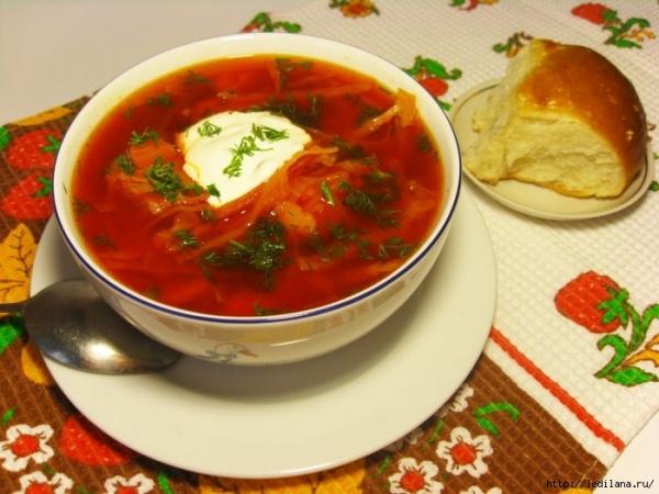 Кухня: Рецепт украинского борща