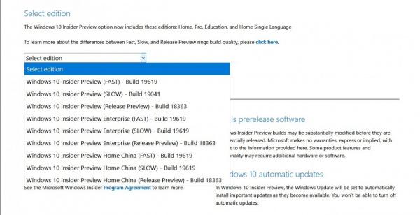 Технологии: Выпущены ISO-образы Windows 10 Insider Preview Build 19619