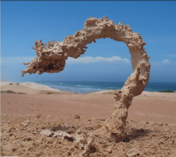 Природа: Что будет, если молния ударит в песок