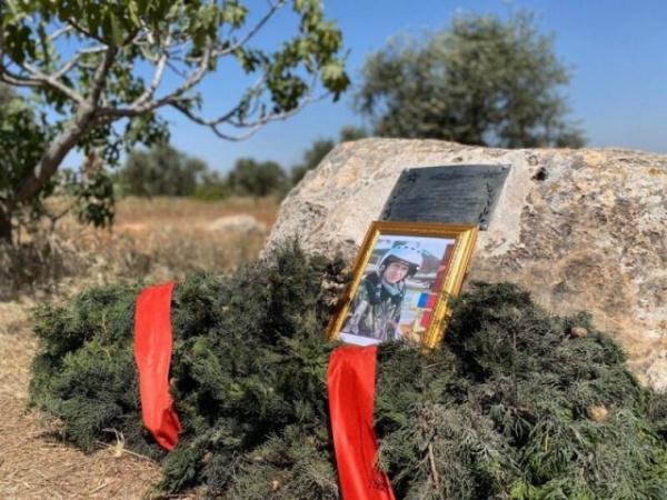 Новости: В Сирии на месте гибели летчика Романа Филипова установлен памятный знак