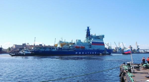 Новости: Атомный ледокол Арктика вышел на ходовые испытания