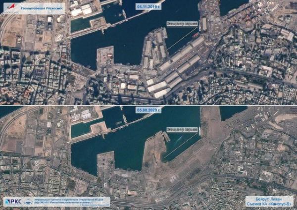 Интересное: Снимки Бейрута со спутника Роскосмоса - до и после