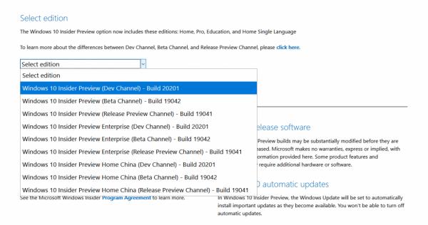 Технологии: Официальные ISO-образы Windows 10 Insider Preview Build 20201