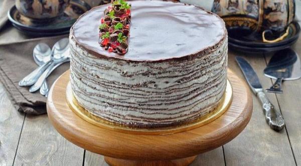 Полезные советы: Шоколадный блинный торт
