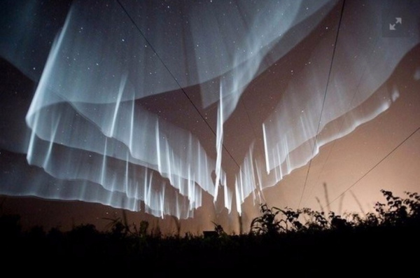 Природа: Редчайшее северное сияние было запечатлено недавно над Финляндией