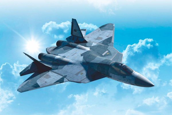 Новости: Второй серийный Су-57 установочной партии совершил первый полёт