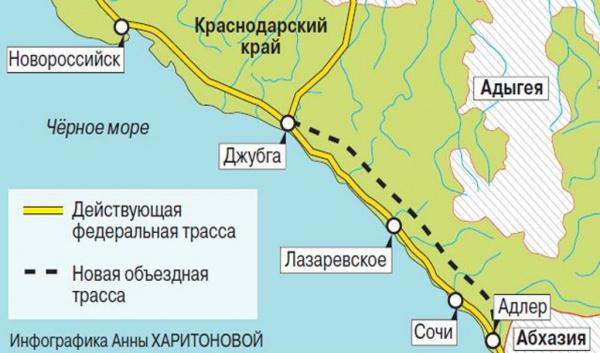 Краснодарский край: Через год начнутся изыскательские работы по переносу ЖД-пути от моря в горы