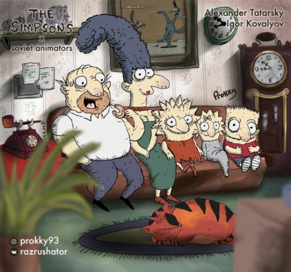 Интересное: Если бы Симпсонов рисовали советские художники
