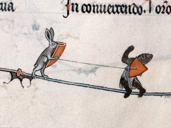История: Почему на средневековых рисунках зайцы убивают рыцарей?