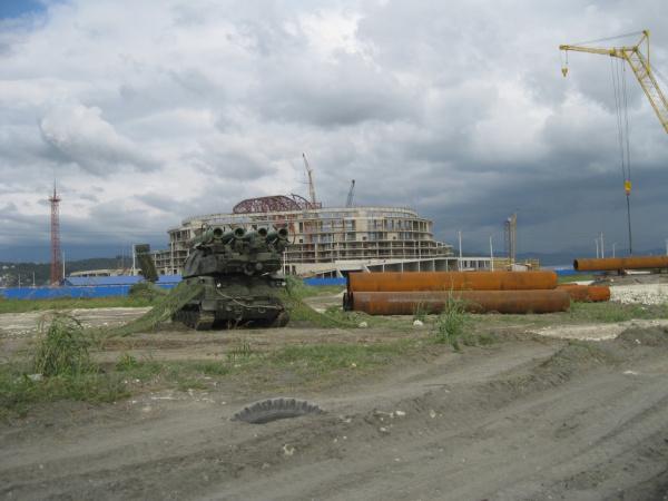Адлер, 2010год.  Город готовится к Олимпиаде