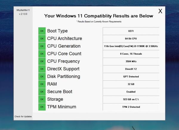 Технологии: Приложение WhyNotWin11 подробно расскажет, почему ваш ПК не может обновиться до Windows 11