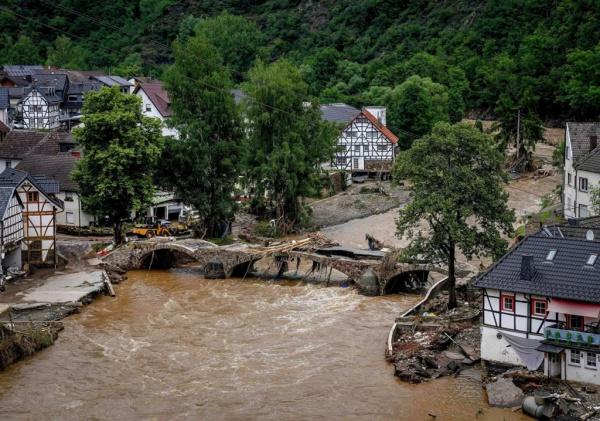 Происшествия: Минобороны Германии объявило режим военной катастрофы на западе страны из-за наводнения