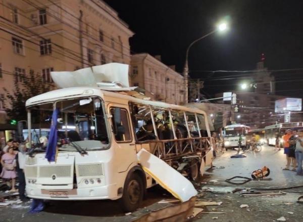 Происшествия: В Воронеже взорвался автобус