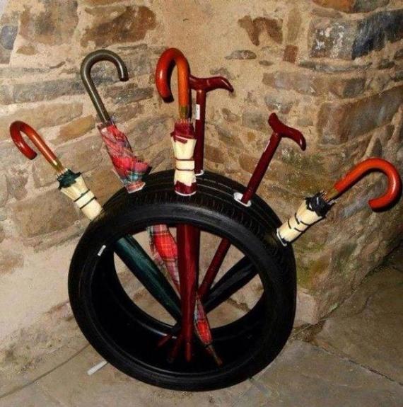 Интересное: Светильник, сабвуфер, ступеньки: что еще можно сделать из шин