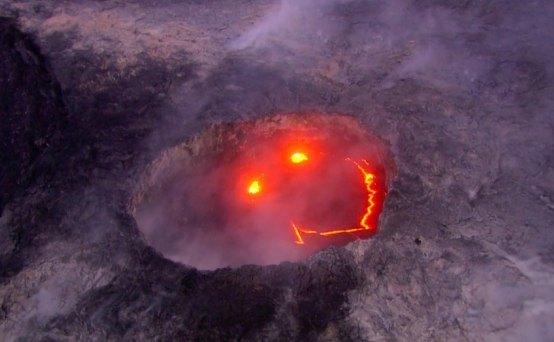 Природа: Смайлик вулкана