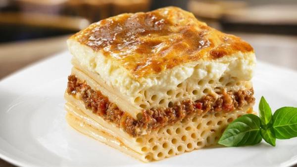 Кухня: Пастицио с фаршем (греческая лазанья)