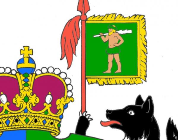 Юмор: «Мужика в трусах» уберут с герба ХМАО. Власти уже работают над новой версией