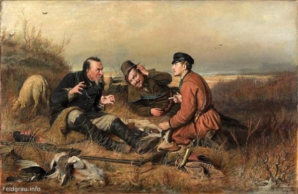 Интересное: История картины «Охотники на привале» Перова