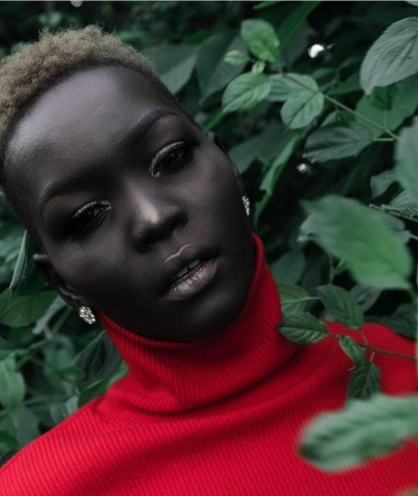 Интересное: Суданская модель Няким вошла в книгу рекордов Гиннеса за самый темный оттенок кожи на планете
