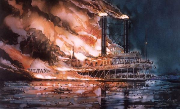 Происшествия: Гибель парохода *Султана*