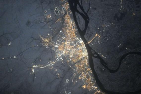 Интересное: Вид на города России с МКС