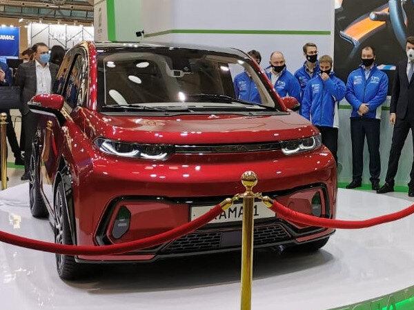 Блог Cfybnfh_ktcf1: В Москве представили легковой электромобиль КАМАЗ за 1 млн рублей